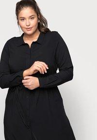 ONLY Carmakoma - CARNEWMARRAKESH - Shirt dress - black - 4