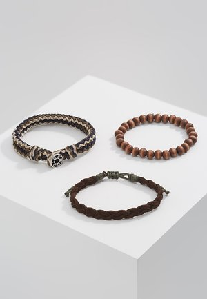 TRICOLOR COMBO 3 PACK - Bracelet - brown