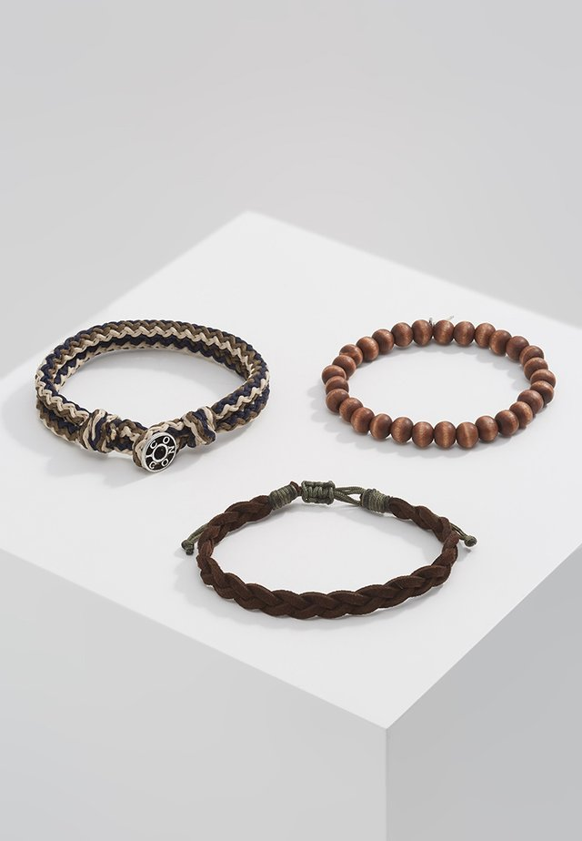 TRICOLOR COMBO 3 PACK - Armbånd - brown