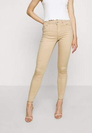 VMHOT SEVEN PUSH UP PANTS - Jeans Skinny - beige