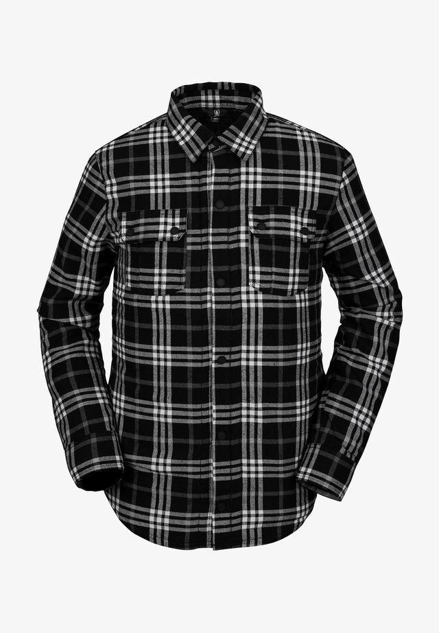 SHERPA FLANNEL JACKET - Chemise - black