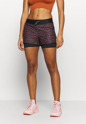 ONPDAMMAN LIFE TRAINING - Sports shorts - black/mesa rose/sunset ora