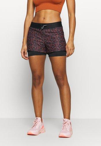 ONPDAMMAN LIFE TRAINING - Sports shorts - black/mesa rose/sunset ora