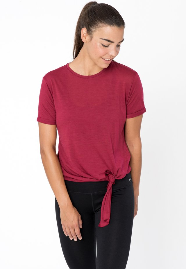 W KNOT  - Print T-shirt - rubinrot