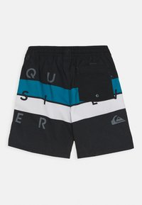 Quiksilver - WORD BLOCK VOLLEY YOUTH - Swimming shorts - black - 1