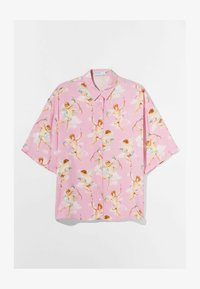 Bershka - Button-down blouse - pink - 4
