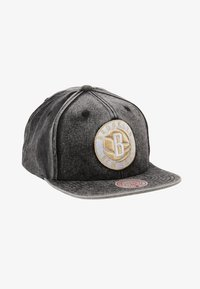 Mitchell & Ness - NBA BROOKLYN NETS SNOW WASHED NATURAL SNAPBACK - Keps - black - 1