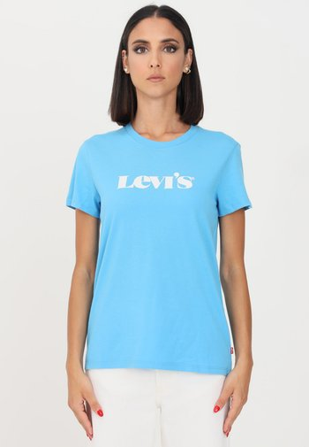 Print T-shirt - bonnie blue