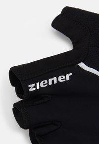 Ziener - CELAL BIKE GLOVE - Kurzfingerhandschuh - black - 2