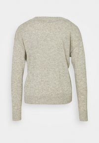 Selected Femme - SLFYASMIN V NECK - Strickpullover - light grey melange - 1