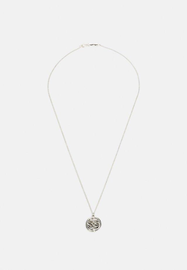 SNAKE PENDANT - Necklace - silver-coloured