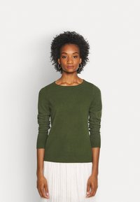 Marc O'Polo - LONGSLEEVE BASIC WITH ROUNDNECK - Jumper - lush pine - 0