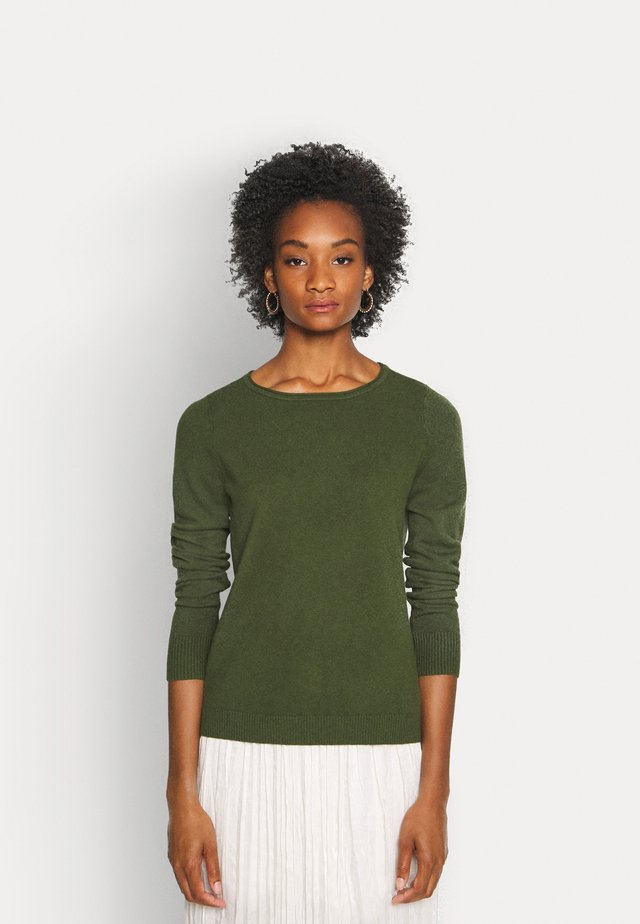 LONGSLEEVE BASIC WITH ROUNDNECK - Neule - lush pine