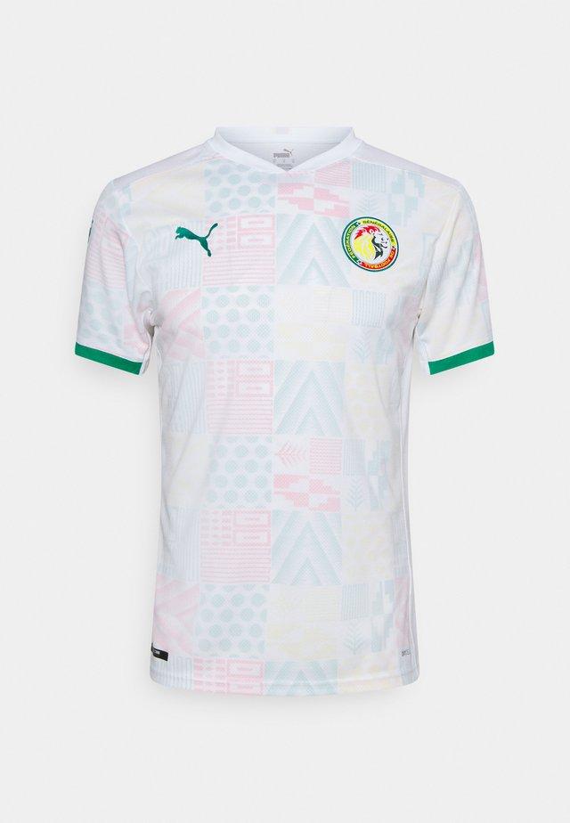 SENEGAL FSF HOME  - Club wear - white/pepper green