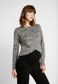 Cotton On - MATERNITY CROSS OVER FRONT LONG SLEEVE - Sweter - grey twist - 0