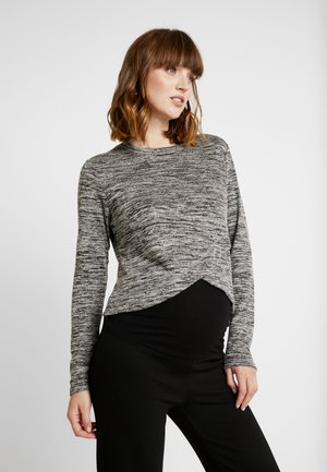 MATERNITY CROSS OVER FRONT LONG SLEEVE - Strikkegenser - grey twist