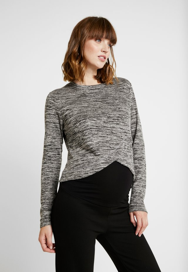 MATERNITY CROSS OVER FRONT LONG SLEEVE - Neule - grey twist