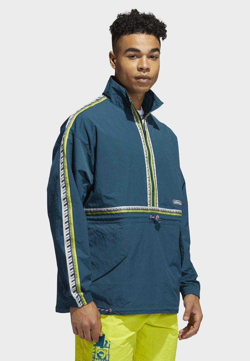 adidas Originals - TAPED ANORAK - Windbreaker - turquoise