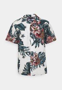 TROPICAL PRINT - Shirt - ecru/mystic lake