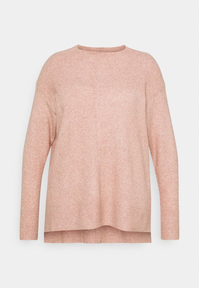 ZENA GROWN NECK - Pullover - dusty pink
