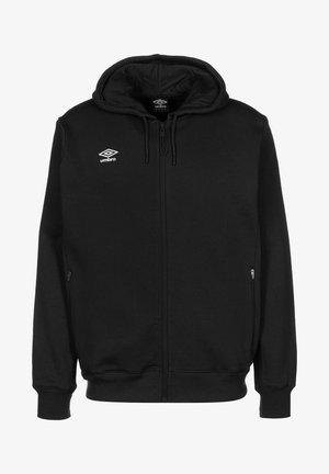 Zip-up sweatshirt - black / white