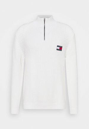 BADGE HALFZIP - Sweter - ecru