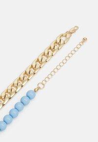 Pieces - PCBELLI NECKLACE - Necklace - gold-coloured/blue - 1