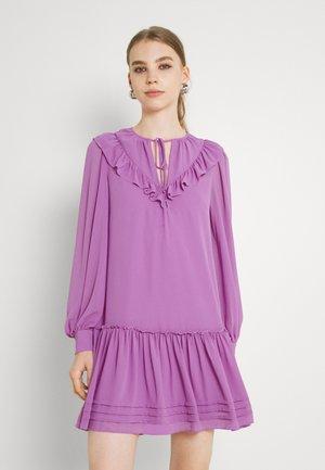 NELLY V NECK RUFFLE DRESS - Cocktail dress / Party dress - purple