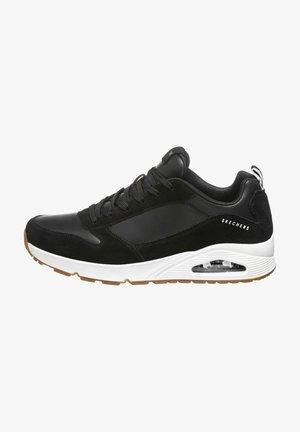 Sneakers hoog - black leather / pu / white trim