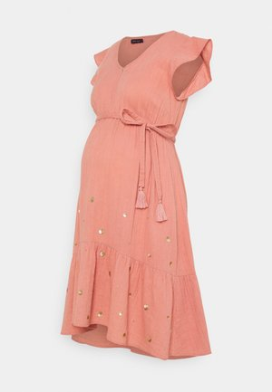Žerzejové šaty - blush