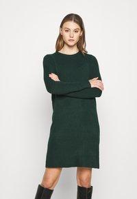 ONLY - ONLELENA DRESS - Jumper dress - green gables/black melange - 0