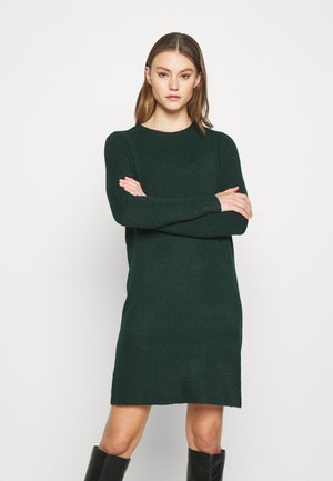 ONLELENA DRESS - Strikket kjole - green gables/black melange