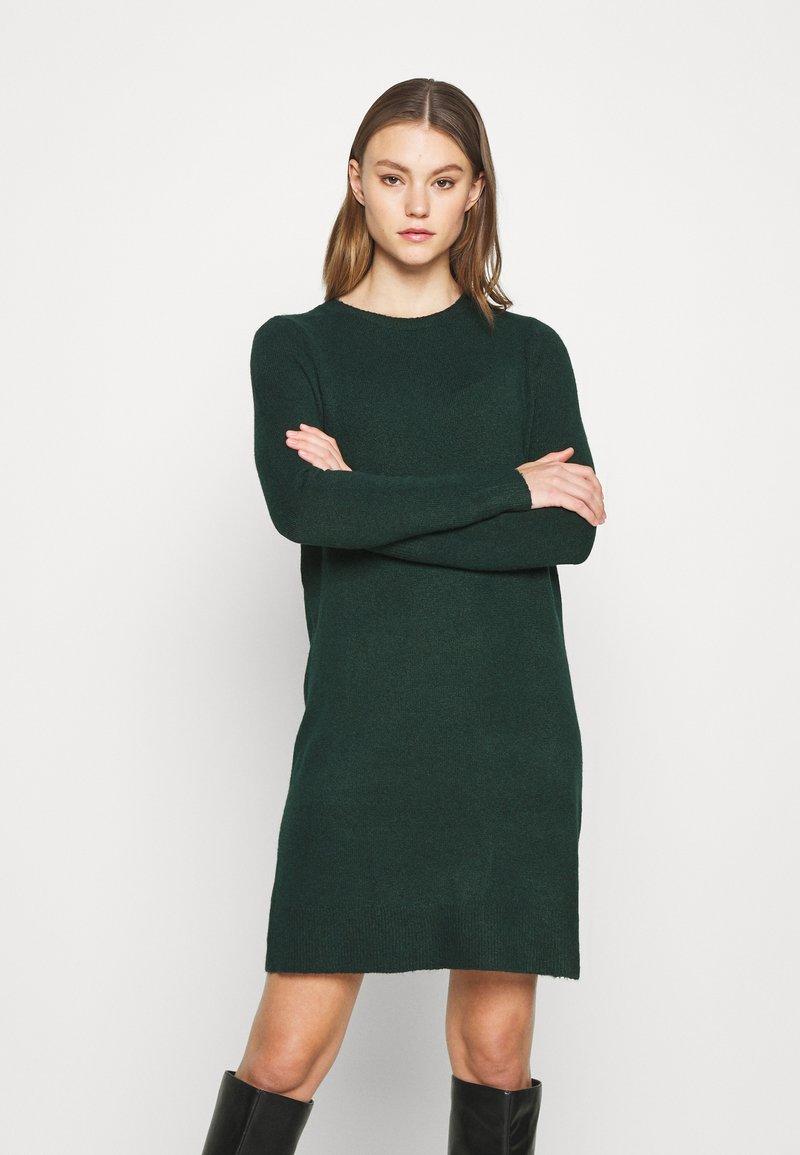 ONLY - ONLELENA DRESS - Jumper dress - green gables/black melange
