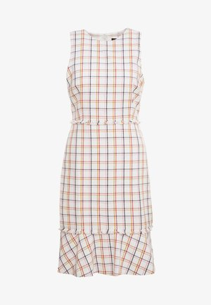 Day dress - window plaid/navy cerise