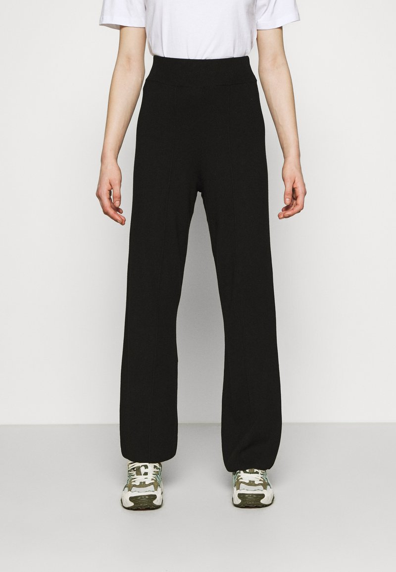 YAS - YASFIBA PANTS - Trousers - black