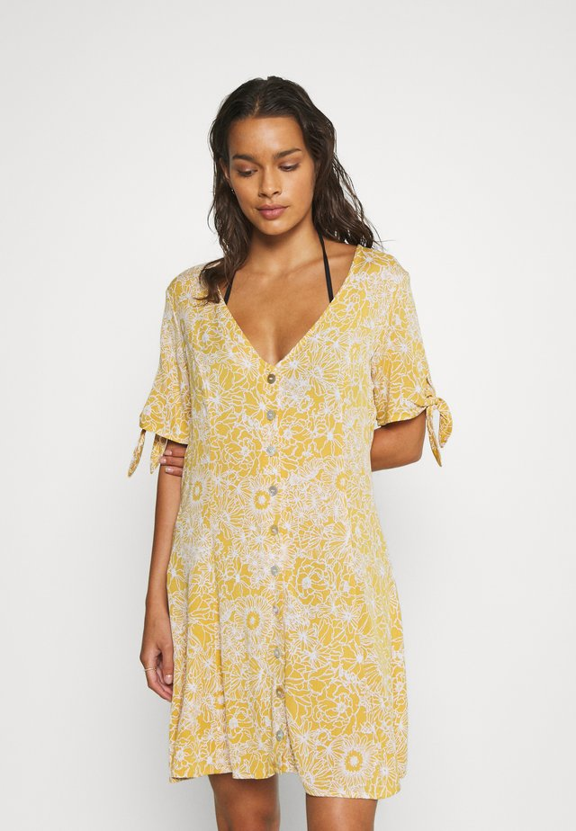 GOLDEN DAYS FLORAL DRESS - Akcesoria plażowe - yellow