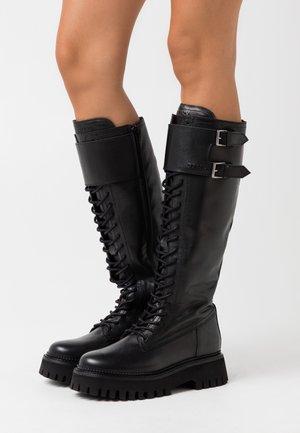 GROOV - Platform boots - black