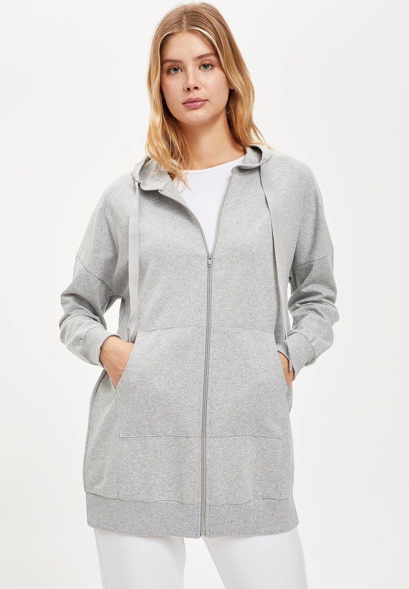 DeFacto - Zip-up hoodie - grey