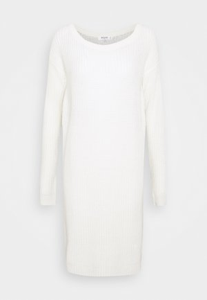 AYVAN OFF SHOULDER JUMPER DRESS - Vestido de punto - white