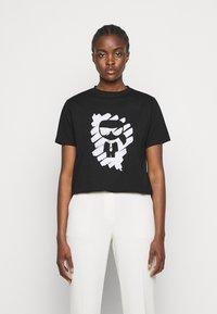 KARL LAGERFELD - IKONIK GRAFFITI  - T-Shirt print - black - 0
