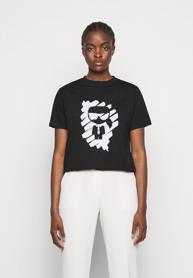 KARL LAGERFELD - IKONIK GRAFFITI  - T-Shirt print - black