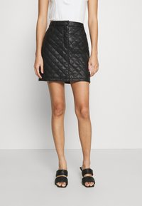 Miss Selfridge - QUILTED SKIRT - A-line skirt - black - 0