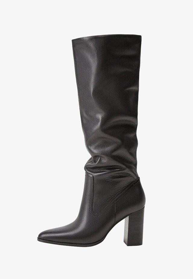 BOBY - Boots med høye hæler - schwarz