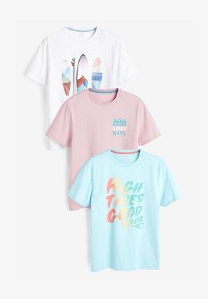 3 PACK - Camiseta estampada - blue