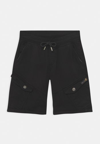 BOYS - Cargo trousers - schwarz reactive