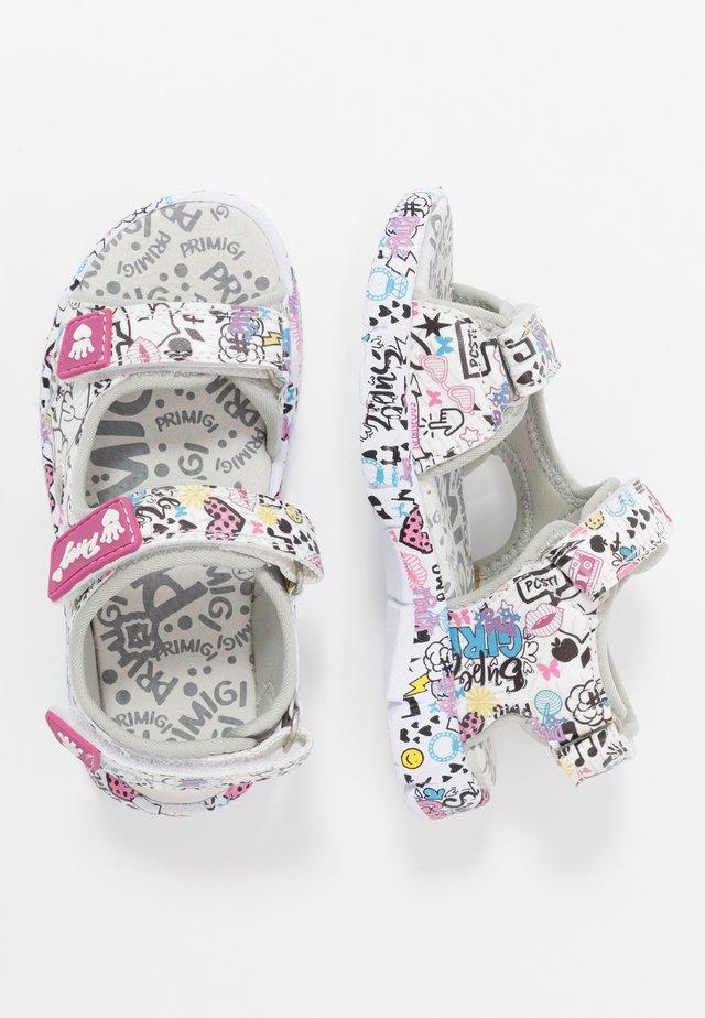 Walking sandals - bianco/multicolor