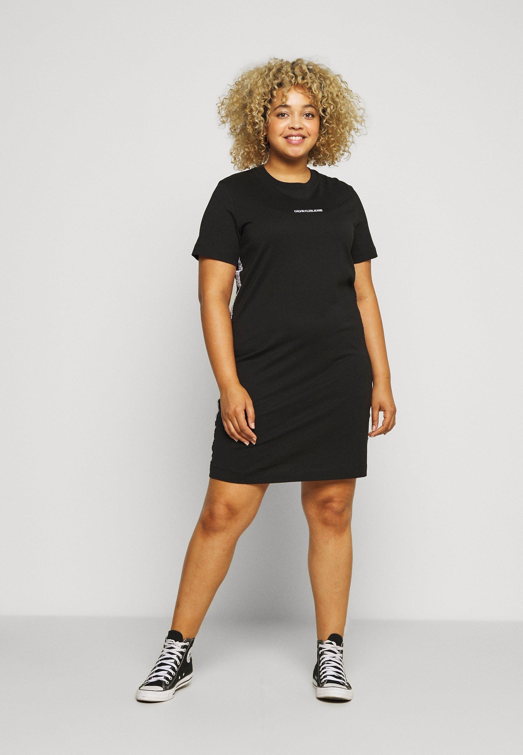 Damen PLUS TAPE DRESS - Jerseykleid