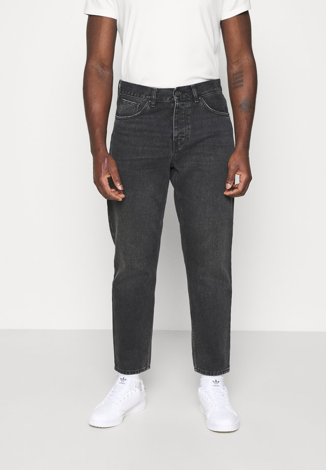 NEWEL PANT MAITLAND - Relaxed fit jeans - black mid worn wash