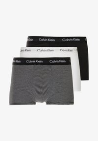 Calvin Klein Underwear - STRETCH LOW RISE TRUNK 3 PACK - Pants - black/white - 3