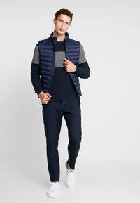 Pier One - Stickad tröja - dark blue - 1
